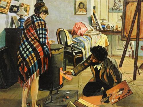The Artist's Studio [Pryanishnikov] Genuine Painting
