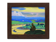 Praying for the Unknown Travelers [Roerich] Russian Masterpiece Painting