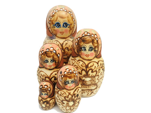 Blue-Eyed Matryoshka from Sergiev Posad