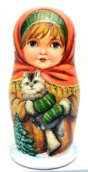 Russian Children Artist's Matryoshka Doll by Solovieva