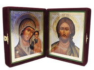 Christ Pantocrator and Kazanskaya Virgin Diptych Icon