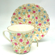 Chrysanthemum (Хризантема) Bone China Tea Cup and Saucer