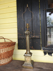Brass Imperial Column Table Lamp
