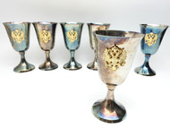 Water Goblets with Russian Double Headed Eagle  - IRAA