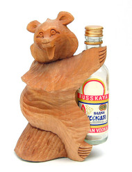 Vodka Bear Bogorodsk Carving