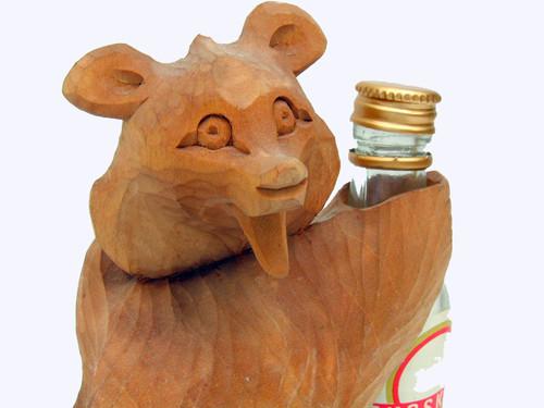Vodka Bear Bogorodsk Carving