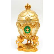 Gold Fleur de lis Jubilee Large Egg Box