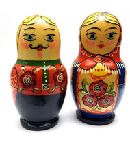 Sergiev Posad Matryoshka Salt and Pepper Set