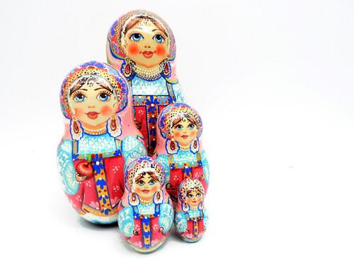 Moscow Maidens Art Matryoshka Doll