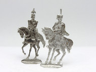 2 Russian Imperial Tin Toy Soldier Flats Tsar Nicholas II