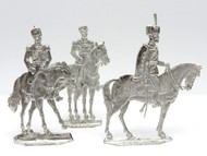 3 Russian Imperial Tin Toy Soldier Flats Tsar Nicholas II