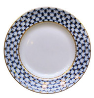 Large Cobalt Net Dinner Plate