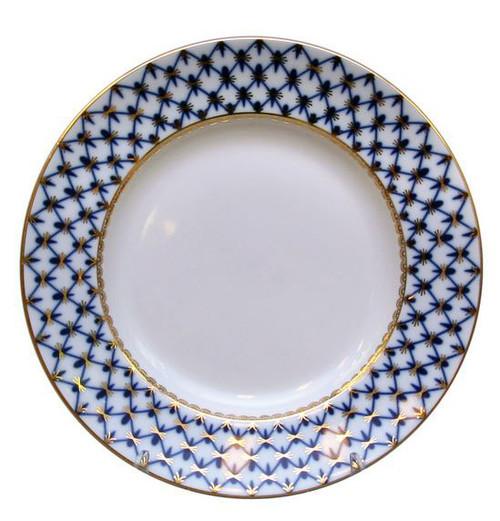 Large Cobalt Net Dinner Plate