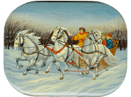 Dapple Gray Horses Miniature Painting