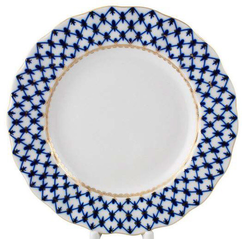 "Cobalt Net Large ""Tulip"" Dinner Plate"