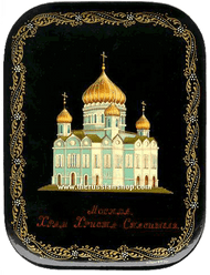 Christ the Savior Cathedral in Moscow Miniature Painting