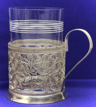 Silver Plated Filigree Russian Tea Glass Holder