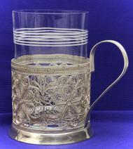 Silver Plated Filigree Russian Tea Glass Holder