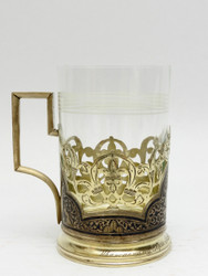 Niello Russian Tea Glass Holder