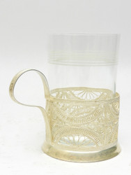 "Vintage Tea Glass Holder ""Filigree Swag"""