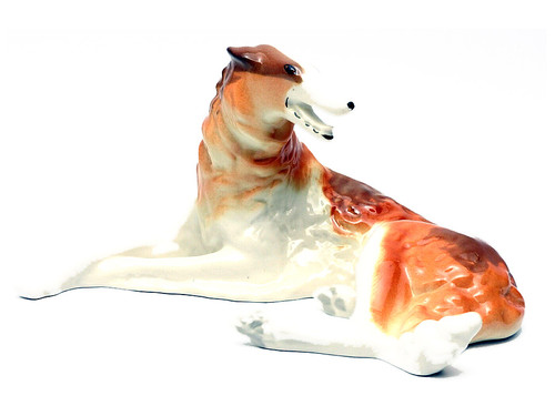 Borzoi (Борзая) Lomonosov Porcelain Figure