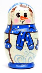 Snowman Nesting Doll Blue