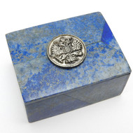 Imperial Russian Eagle Lapis Lazuli Keepsake Box