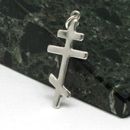 Traditional Sterling Silver Russian Orthodox Cross