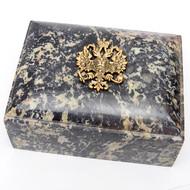 Russian  Imperial Double Headed Eagle  Keepsake Box