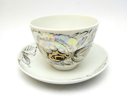 Pearl Teacup and Saucer