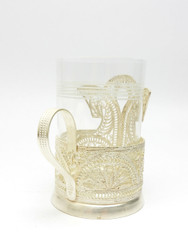 "Vintage Tea Glass Holder ""Horses"""