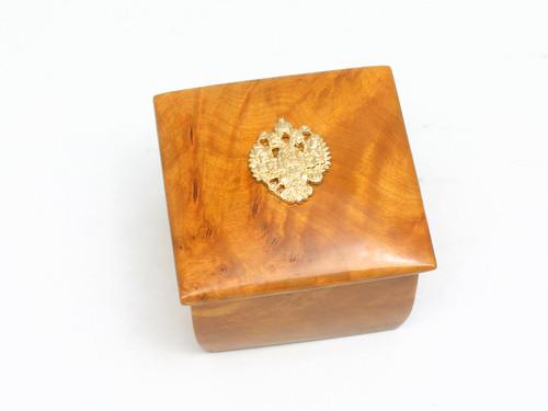 Karelian Birch Box with Eagle