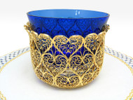 "Russian Filigree Bowl  ""Petit Coeur""  ""Little Heart"""