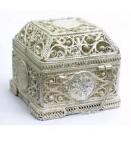 "Russian Filigree Box  ""Treasure Chest""  Сундучёк для сокровищей"