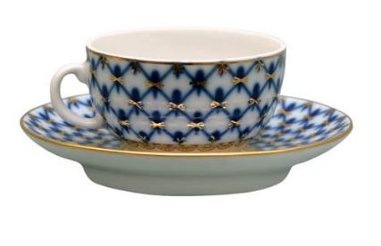 Cobalt Net Demi-Tasse for Mocha
