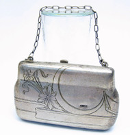Art Nouveau Engraved Silver Ladies Evening Portmonee  c. 1910 [SOLD]