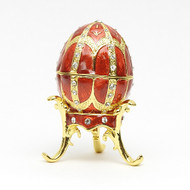 Mini Romanov Ruby Red Egg Box
