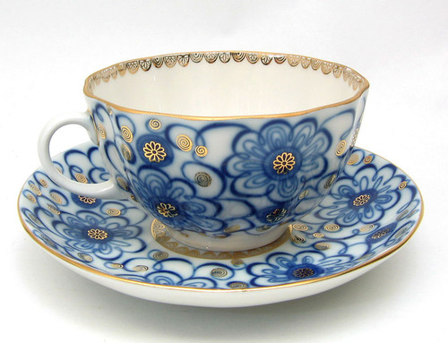 Winding Twig Teacup and Saucer
