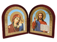 Christ the Teacher and the Virgin of Kazan Diptych