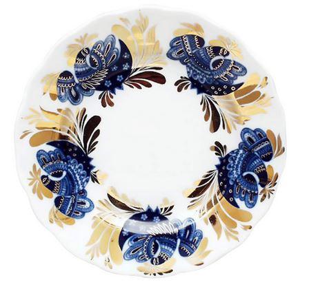 """Golden Garden 7"""" Dessert Plate"""