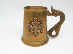 Decorative Beer Mug with Serpent Handle