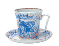 Troika Mug and Saucer