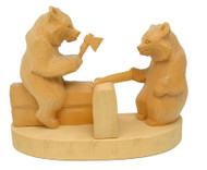 Carpenter Bears (Строители) Bogorodsk Tableau Carving