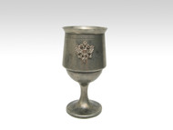 Pewter Chalice with Russian Eagle