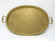 Russian Brass Serving Tray  [Antique]