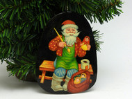 Russian Painted Christmas Ornament *Santa [2]