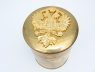 Brass Eagle Tobacco Canister