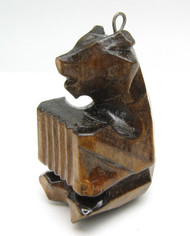 Mini Hand Carved Bear Ornament