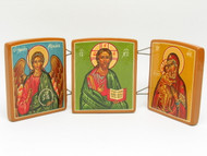 Christ, Mother of God and Archangel Michael Triptych Icon
