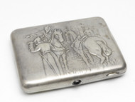WWII Soviet Army Silver Cigarette Case